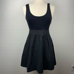 Theory Black Fit & Flare Sleeveless Dress